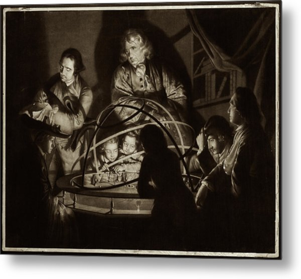 Philosopher Giving Lecture On The Orrery Metal Print by Museum Of The History Of Science/oxford University Images