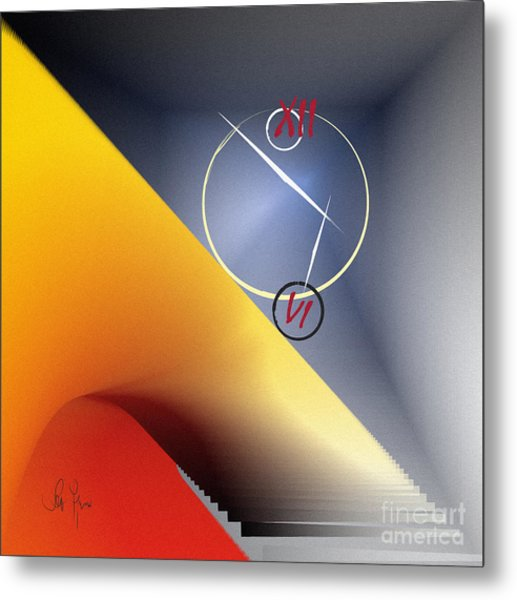 Philosophy Of Time Metal Print by Leo Symon