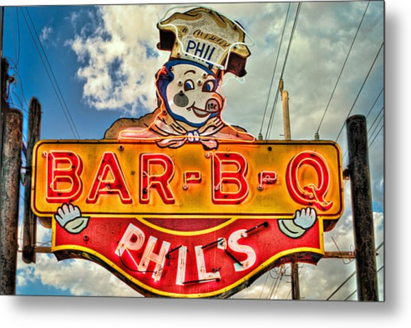 Phils Barbeque Metal Print