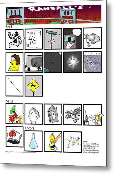 Phish 7/12/14 Randall's Island Night II Metal Print