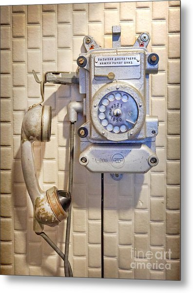 Phone Kgb Surveillance Room Metal Print
