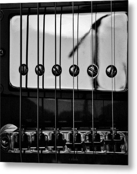 Phone Pole Reflection Metal Print