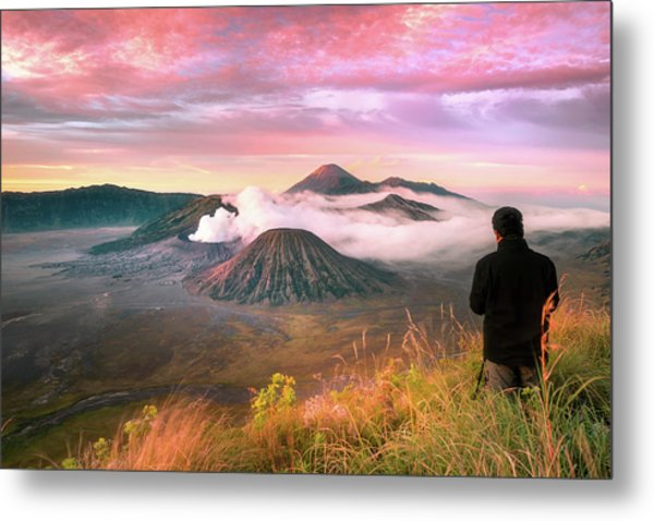 Photographer Metal Print by Anuchit Kamsongmueang