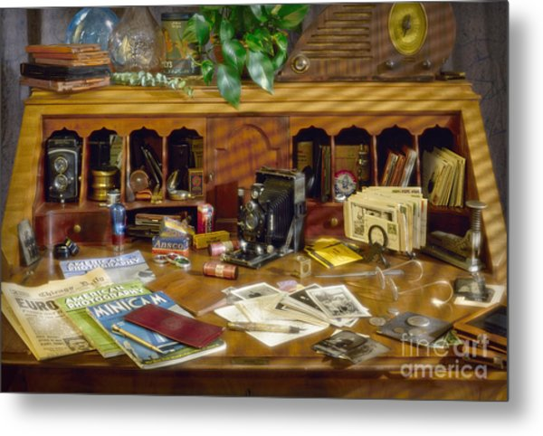 Photographers Desk 1939 Metal Print
