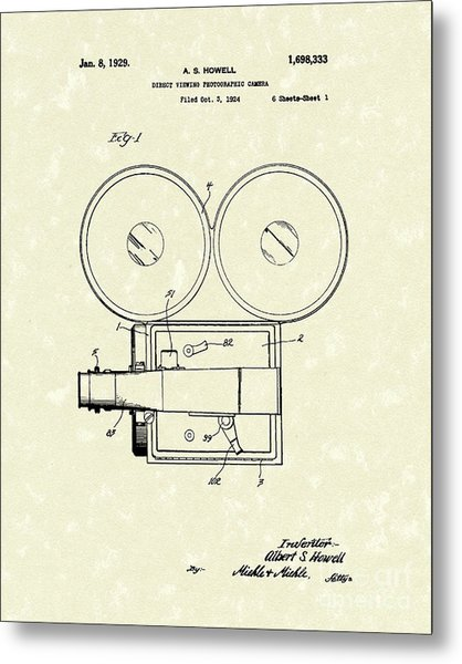 Photographic Camera 1929 Patent Art Metal Print