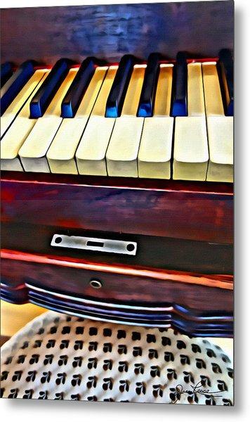 Piano And Stool Metal Print