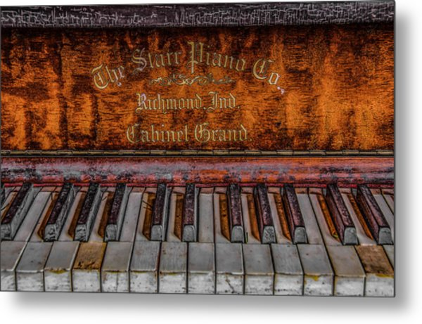 Piano Keys #1 Metal Print