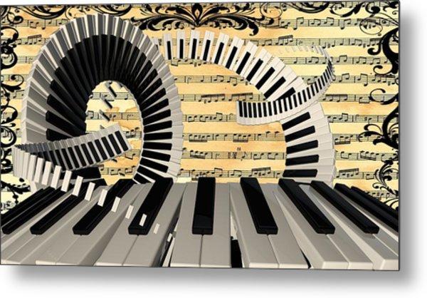 Piano Keys  Metal Print