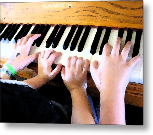 Piano Lessons Metal Print