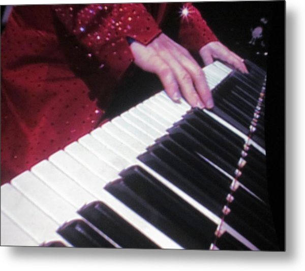 Piano Man At Work Metal Print