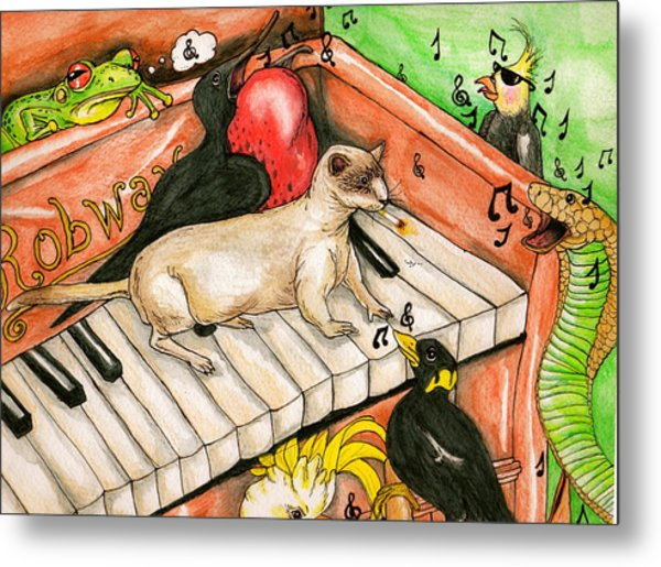 Piano Sing Along Metal Print