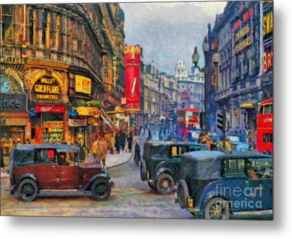 Picadilly Circus Metal Print