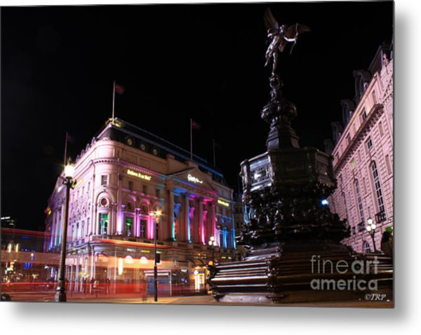 Piccadilly Circus Metal Print by Size X