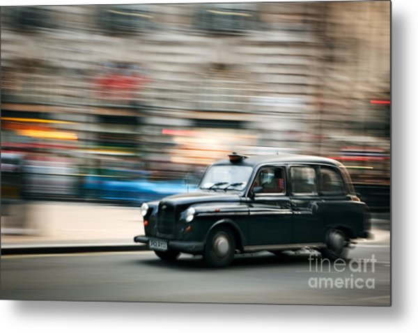 Piccadilly Taxi Metal Print