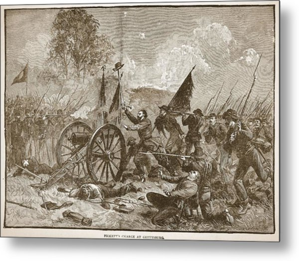 Picketts Charge At Gettysburg Metal Print