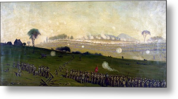 Picketts Charge On Union Center 3pm Metal Print