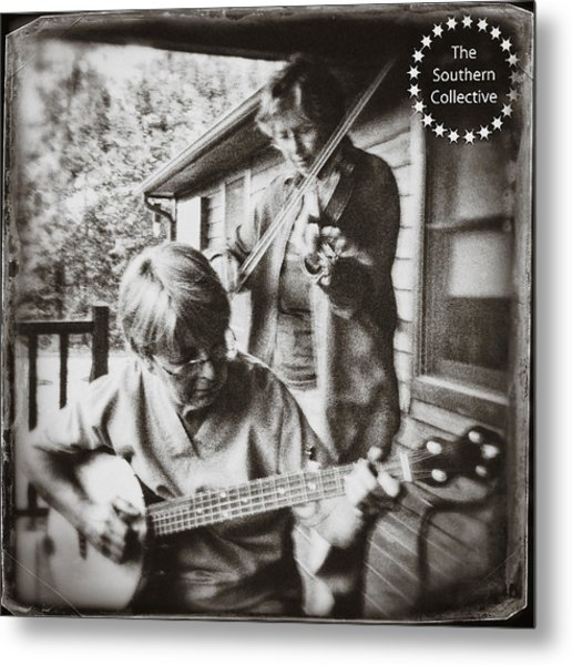Pickin' And Fiddlin' On The Porch Metal Print