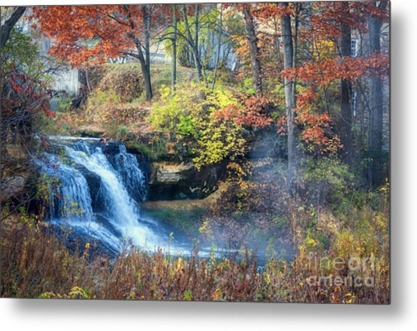 Metal Print featuring the photograph Pickwick Mill Falls by Kari Yearous