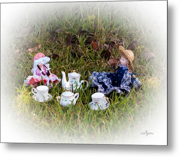 Picnic For Dolls Metal Print