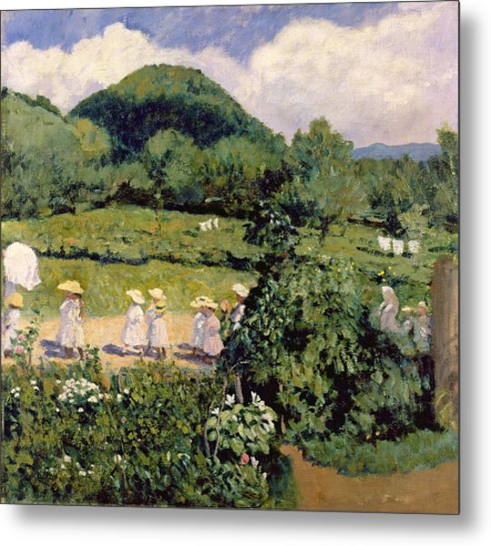 Picnic In May, Summer Day, 1906 Metal Print