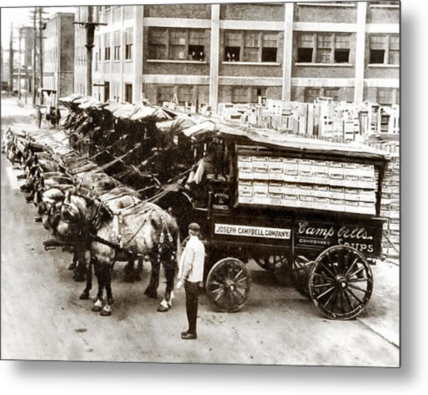 Picture 11 - New - Campbells Soup Wagons Metal Print