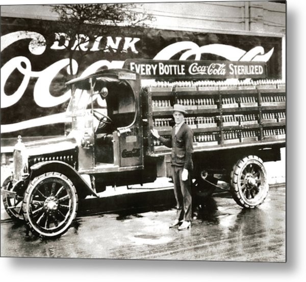 Picture 7 - New - Coca Cola Delivery Truck Metal Print