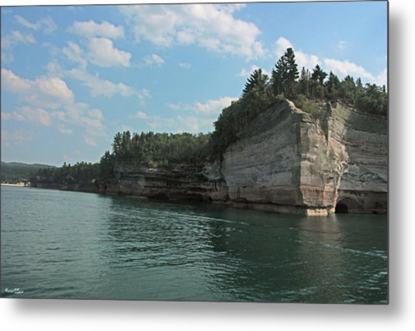 Pictured Rocks Battleship Formation Metal Print