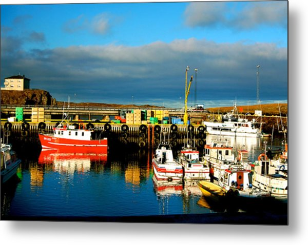 Picturesque Harbour Metal Print