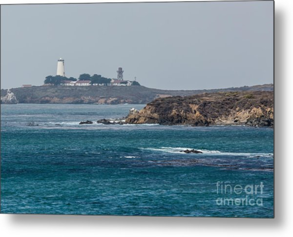 Piedras Blancas Lighthouse A2155 Metal Print by Stephen Parker