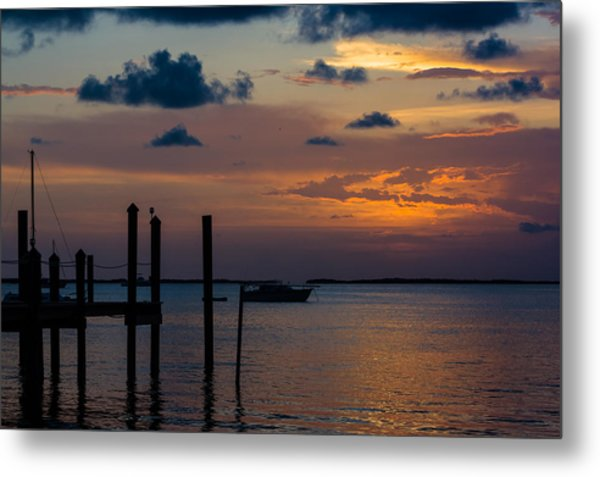 Metal Print featuring the photograph Pier At Buttonwood Sound by Ed Gleichman
