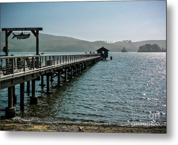 Pier At Nick's Cove Metal Print