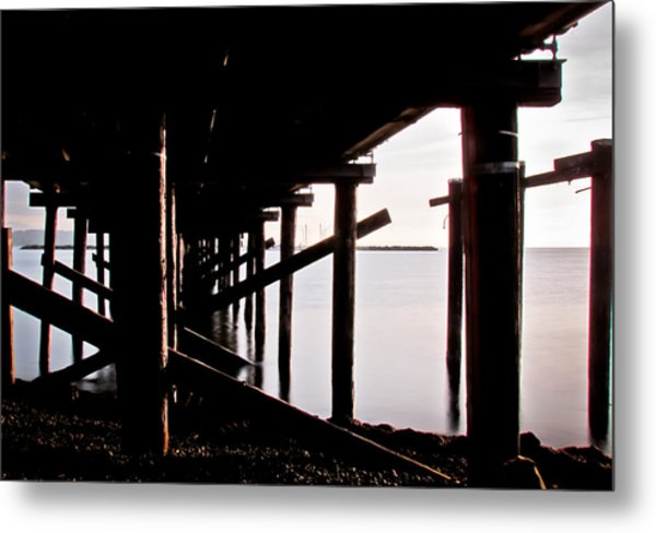 Pier Ocean And Angles Metal Print