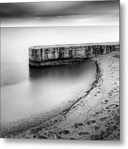 Pier On The Beach Metal Print by George Digalakis
