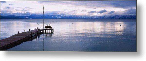 Pier On The Water, Lake Tahoe Metal Print