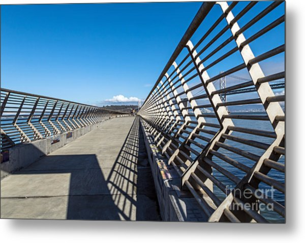 Metal Print featuring the photograph Pier Perspective by Kate Brown