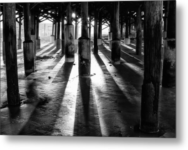 Pier Shadows Metal Print