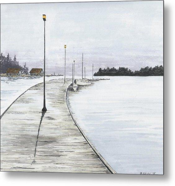Pier Solitude Metal Print by Dan Haley