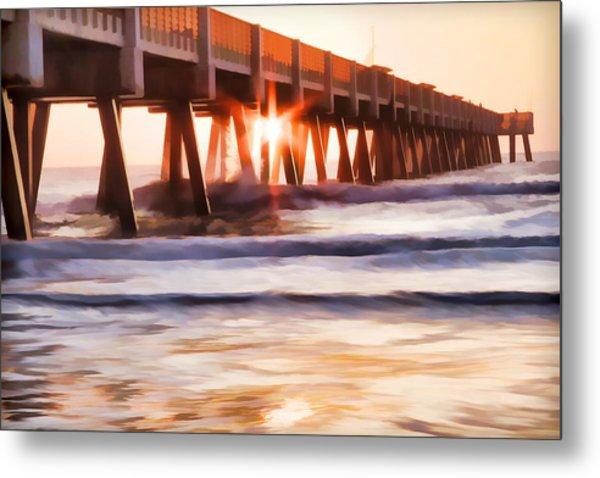 Pier Sunrise Too Metal Print