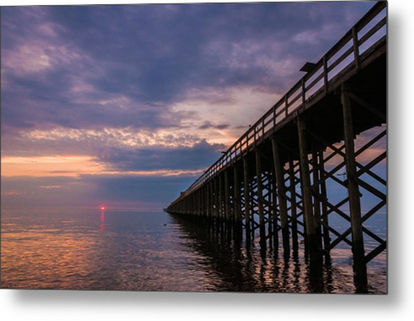 Pier To The Horizon Metal Print
