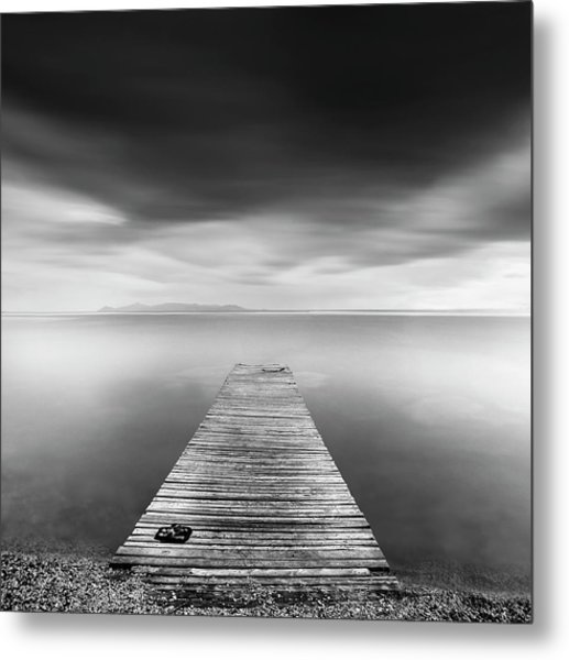 Pier With Slippers Metal Print