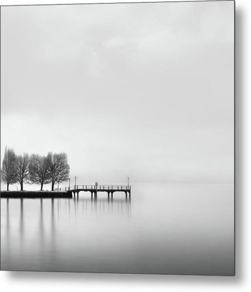 Pier With Trees (2) Metal Print by George Digalakis