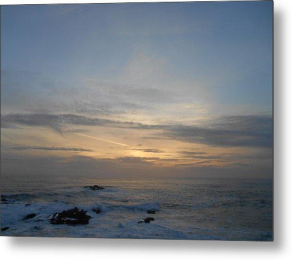Pigeon Point Sunset Metal Print