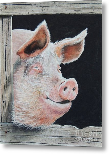 Piggy.  Sold  Metal Print