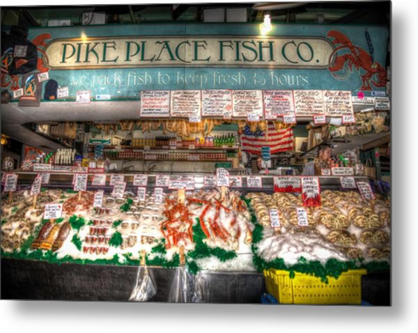 Pike Place Fish Company II Metal Print