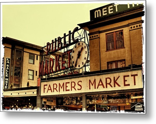 Pike Place Market - Seattle Washington Metal Print