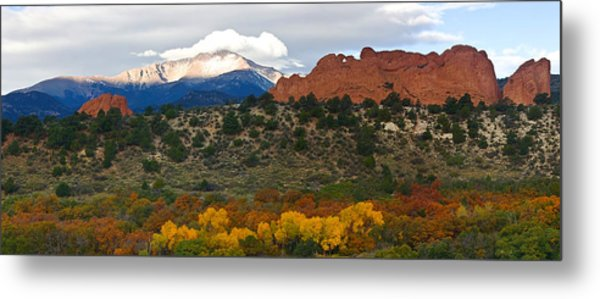 Pikes Peak Fall Pano Metal Print