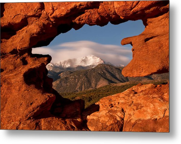 Pikes Peak Framed Metal Print