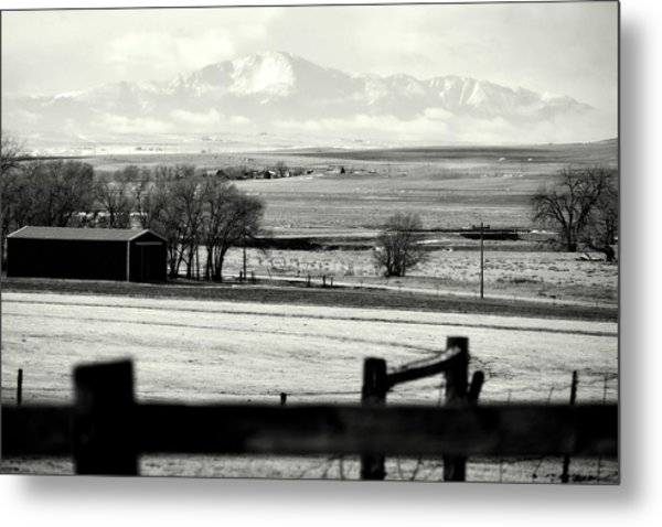 Pikes Peak From Ramah Metal Print