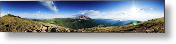 Pikes Peak Panoramic From Almagre Metal Print