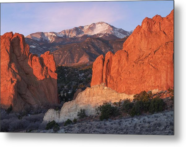 Pikes Peak Sunrise Metal Print